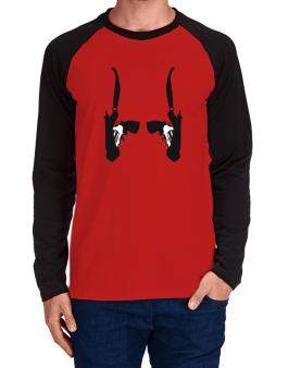 Double Gun Holster Long-sleeve Raglan T-Shirt