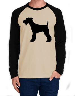 Fox Terrier silhouette Long-sleeve Raglan T-Shirt