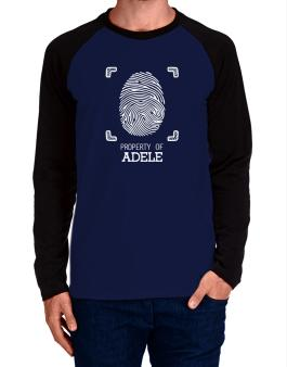 Property of Adele fingerprint 2 Long-sleeve Raglan T-Shirt