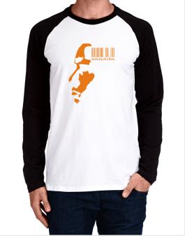 Raglan Manga Larga de Canada - Barcode With Face