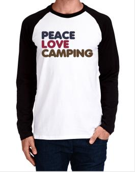 Peace Love Camping Long-sleeve Raglan T-Shirt