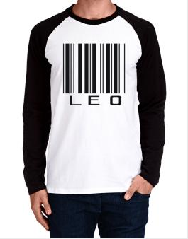 Leo Barcode / Bar Code Long-sleeve Raglan T-Shirt