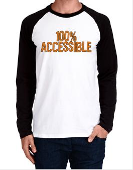 100% Accessible Long-sleeve Raglan T-Shirt
