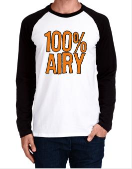 100% Airy Long-sleeve Raglan T-Shirt