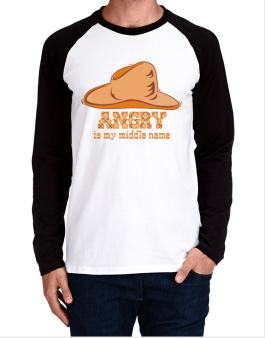 Angry Is My Middle Name Long-sleeve Raglan T-Shirt