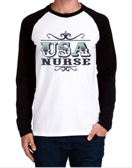 Raglan Manga Larga de Usa Nurse