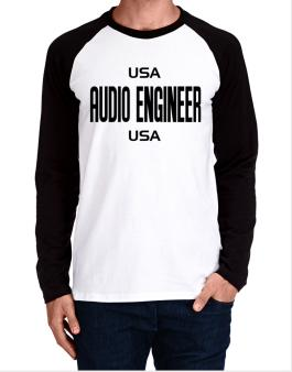 Usa Audio Engineer Usa Long-sleeve Raglan T-Shirt