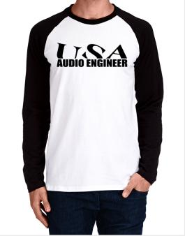 Usa Audio Engineer Long-sleeve Raglan T-Shirt