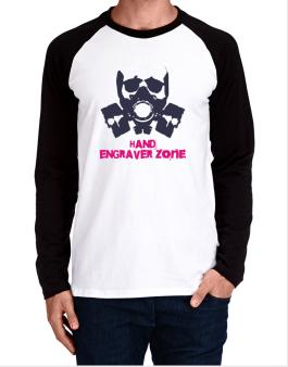 Hand Engraver Zone - Gas Mask Long-sleeve Raglan T-Shirt