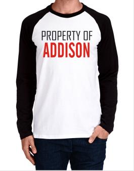 Property Of Addison Long-sleeve Raglan T-Shirt