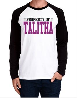 Property Of Talitha Long-sleeve Raglan T-Shirt