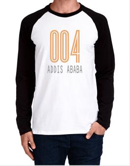 Iso Code Addis Ababa - Retro Long-sleeve Raglan T-Shirt