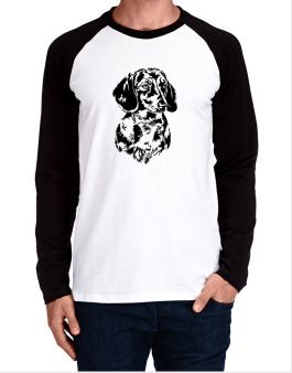 Dachshund Face Special Graphic Long-sleeve Raglan T-Shirt