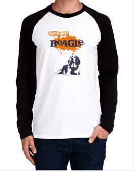 Owned By A Beagle Long-sleeve Raglan T-Shirt