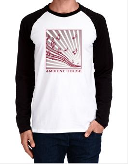 Ambient House - Musical Notes Long-sleeve Raglan T-Shirt