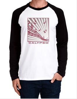 Calypso - Musical Notes Long-sleeve Raglan T-Shirt