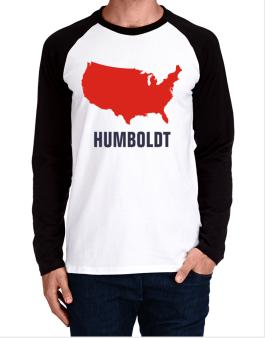 Humboldt - Usa Map Long-sleeve Raglan T-Shirt