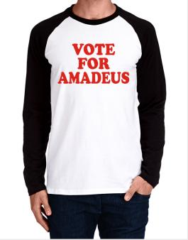 Vote For Amadeus Long-sleeve Raglan T-Shirt