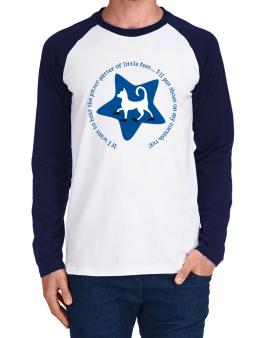 If I Want To Hear The Pitter-patter Of Little Feet ... Ill Put Shoes On My Cornish Rex Long-sleeve Raglan T-Shirt
