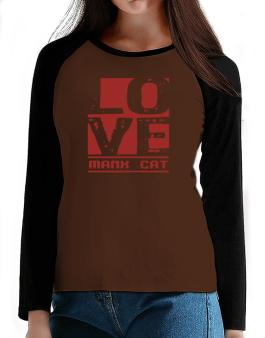 Love Manx T-Shirt - Raglan Long Sleeve-Womens