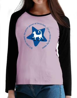 If I Want To Hear The Pitter-patter Of Little Feet ... Ill Put Shoes On My Manx T-Shirt - Raglan Long Sleeve-Womens