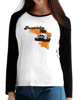 Australia 70s T-Shirt - Raglan Long Sleeve-Womens