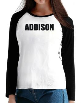 Addison T-Shirt - Raglan Long Sleeve-Womens