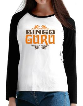 Bingo Guru T-Shirt - Raglan Long Sleeve-Womens