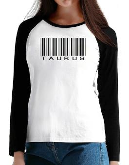 Taurus Barcode / Bar Code T-Shirt - Raglan Long Sleeve-Womens