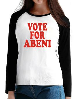 Vote For Abeni T-Shirt - Raglan Long Sleeve-Womens
