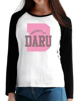 Property Of Daru T-Shirt - Raglan Long Sleeve-Womens