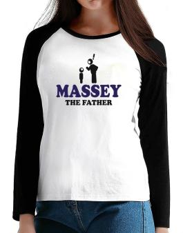 Massey The Father T-Shirt - Raglan Long Sleeve-Womens