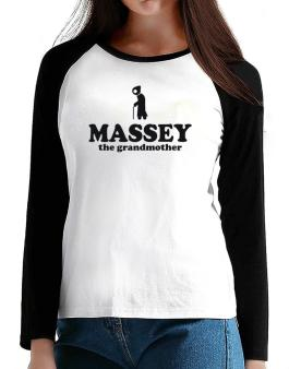 Massey The Grandmother T-Shirt - Raglan Long Sleeve-Womens