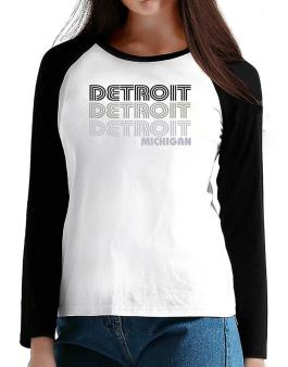 Detroit State T-Shirt - Raglan Long Sleeve-Womens