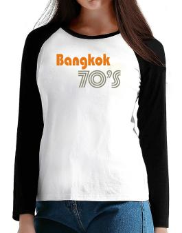 Bangkok 70s Retro T-Shirt - Raglan Long Sleeve-Womens