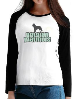 Breed Color Belgian Malinois T-Shirt - Raglan Long Sleeve-Womens