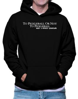 To Pickleball Or Not To Pickleball, What A Stupid Question Hoodie