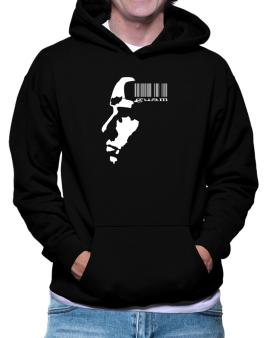 Guam - Barcode With Face Hoodie