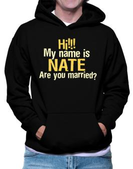 Hi My Name Is Nate Are You Married? Hoodie