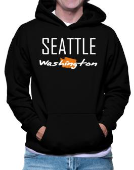 """"""" Seattle - State Map """" Hoodie"""