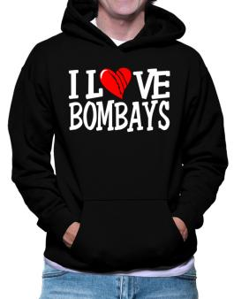 I Love Bombays - Scratched Heart Hoodie