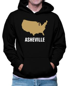 Asheville - Usa Map Hoodie