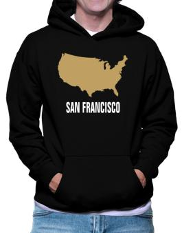 San Francisco - Usa Map Hoodie