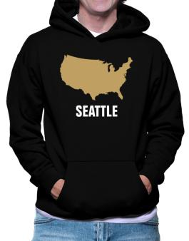 Seattle - Usa Map Hoodie