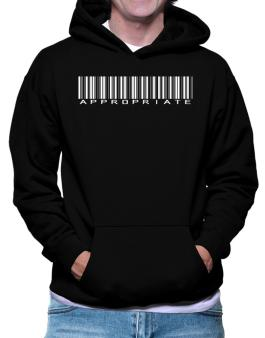 Appropriate Barcode Hoodie