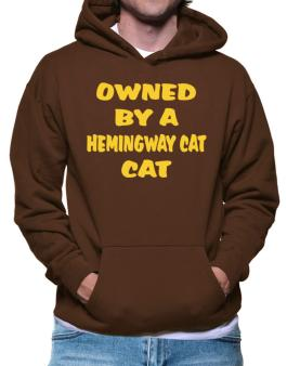 Owned By S Hemingway Cat Hoodie