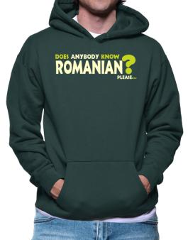 Does Anybody Know Romanian? Please... Hoodie