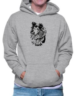 Shetland Sheepdog Face Special Graphic Hoodie
