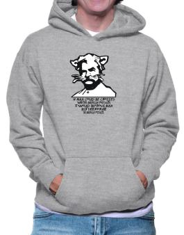 Mark Twain Cat Quote - Altered Hoodie