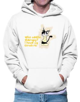 Who Needs Therapy? I Have My Cornish Rex Hoodie